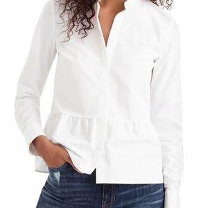 J. CREW Peplum Hem Shirt Size 2